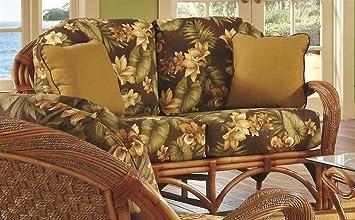 Upholstered Love Seat in Cinnamon