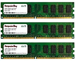 Komputerbay 12GB ( 3 X 4GB ) DDR2 DIMM (240 PIN) 667Mhz PC2 5400 PC2 5300 12 GB