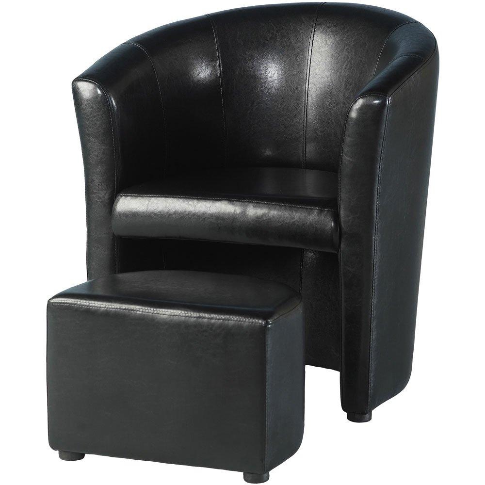 Tempo Tub Stuhl mit Fußbank, Schwarz bestellen