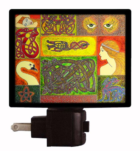 Celtic Patchwork Night Light - Irish Design
