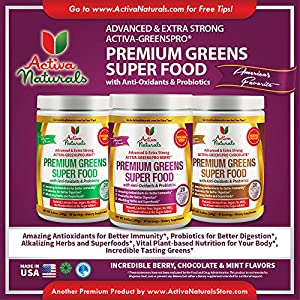 Activa Naturals Greens Super Food Supplement, Chocolate, 240 Gram