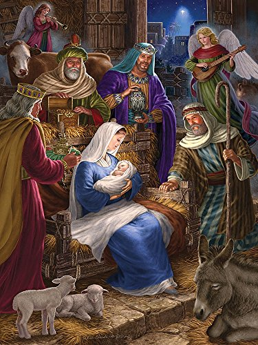 Cobble Hill Holy Night Jigsaw Puzzle, 400-Piece