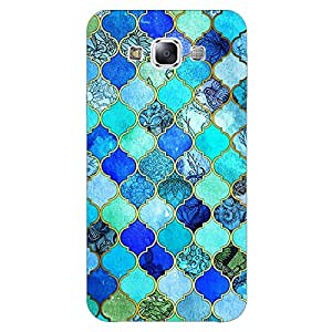 Jugaaduu Dark Blue Moroccan Tiles Pattern Back Cover Case For Samsung Galaxy E7