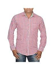 Hunk Men's Checks Cotton Shirt