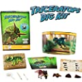 Triceratops Dinosaur Dig Kit -Excavate 3 Real Dino Fossils!