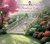 Thomas Kinkade Painter of Light with Scripture 2018 Deluxe Wall Calendar