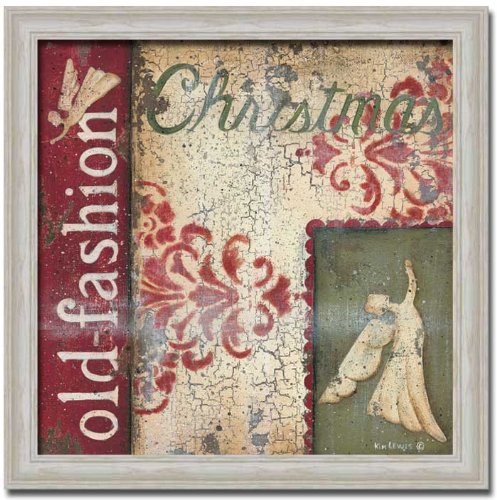 Old Fashioned Christmas Vintage Sign Art Print Framed