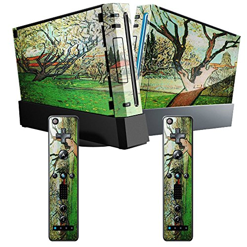 van-gogh-view-of-arles-with-flowering-tree-skin-sticker-vinyl-cover-with-leather-effect-laminate-and