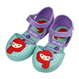 iFANS Girls Mermaid Princess Jelly Shoes Mary Jane Flats for Toddler Little Kids Green (Color: Green, Tamaño: USA13 (EUR29))