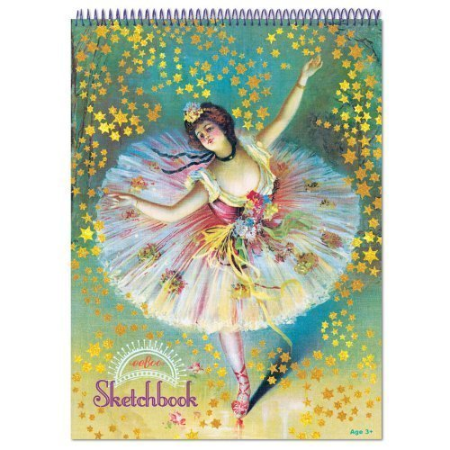 eeBoo Ballerina Dancer with Stars Sketchbook