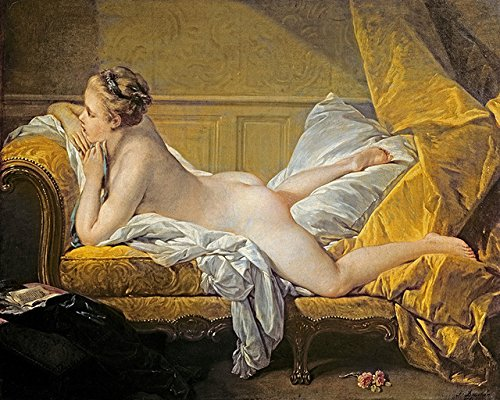 The Period Canvas paintings frameless paintings masterpiece reproduction Reclining Nude Miss O'Murphy By Francois Boucher(Frameless,16x20inch)