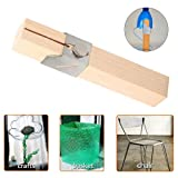 Azcczzii Plastic Bottle Cutter Rope Maker, Plastic Bottle Cutter Outdoor Portable Smart Bottles Rope Tools for DIY, Home Garden Decoration Craft Hand Tools (Wood) (Color: Wood, Tamaño: 14×2×2cm)