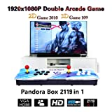 CLIENSY Arcade Video Game Console 2119 Full HD 3D & 2D Games Pandora's Box 7 2 Players Retro Games Controls, Support HDMI/VGA/USB Output (Color: 2120 in 1 White?blue)
