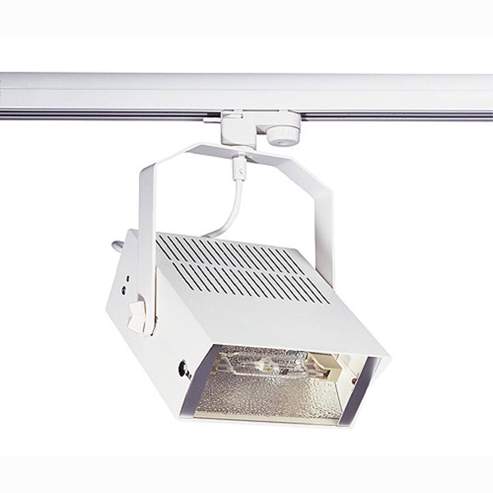 SLV Hqi-Ts Flood 70 Strahler, R7S, inklusive 3 Pin Adapter, 70 W, weiß 150321