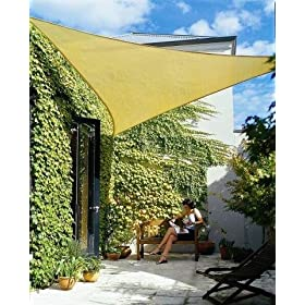 Triangle Sun Shade Sail 16 Feet 5 Inches - Sand Color