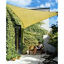 Triangle, Idirectmart,11 Feet 5 Inches,Sun Shade Sail - Sand