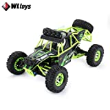 Wltoys12428 Adult 1/12 RC Race car Off-Road Vehicle Waterproof 4WD 50Km/h High Speed 2.4G EU/US Plug 540Brushed Motor Drift Car US Plug (Color: Clear, Tamaño: Standard)