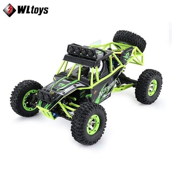 Wltoys12428 Adult 1/12 RC Race car Off-Road Vehicle Waterproof 4WD 50Km/h High Speed 2.4G EU/US Plug 540Brushed Motor Drift Car US Plug (Color: Clear, Tamaño: Standard)