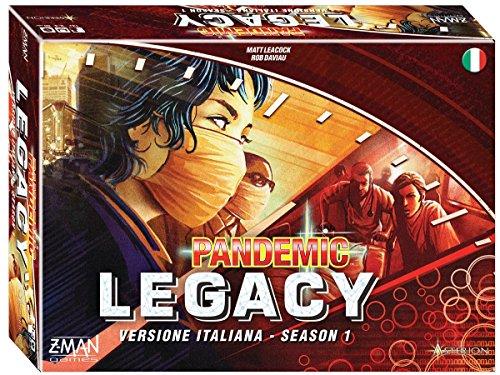 Asterion 8386 - Pandemic Legacy (Scatola Rossa), Edizione Italiana, Multicolore