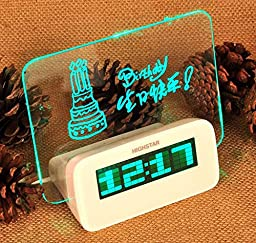 Eforbuy 1 Pcs Children\'s Alarm Clock LED Backlit Display,Battery and USB Power