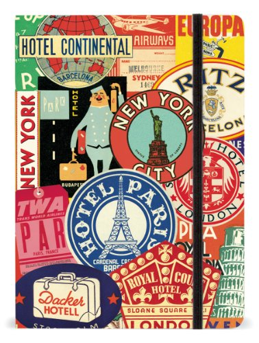 Cavallini 6 by 8-Inch Vintage Travel Notebook, 144 Pages