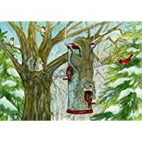 Woodfield Press Chester's Birdfeeder Notecard