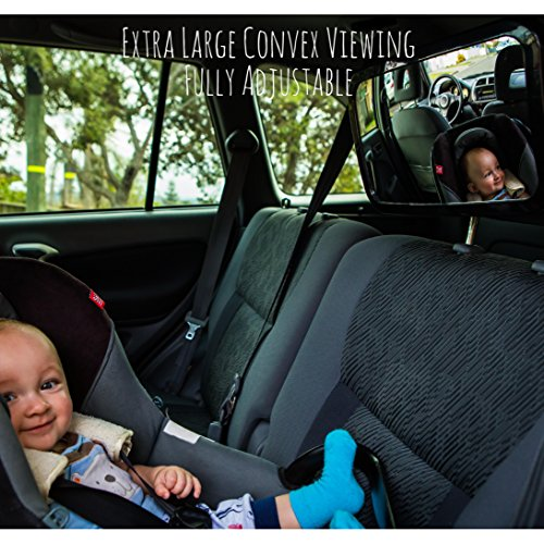 Baby-Backseat-Mirror-for-Car-View-Infant-in-Rear-Facing-Car-Seat-Best-Newborn-Safety-With-Secure-Headrest-Double-Strap-Essential-Car-Seat-Accessories-100-Lifetime-Satisfaction-Guarantee