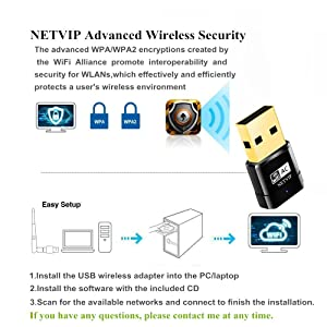 USB WiFi Adapter 600Mbps Wireless Network Card Dual Band 2 4
