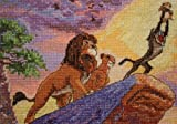 MCG Textiles 52556 Piece Disney Dreams collection The Lion King Vignette Counted Cross Stitch Kit Item , Multi-Colored