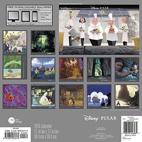 Disney Pixar 2016 Calendar: Includes Downloadable Wallpaper