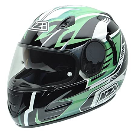 NZI 010264G763 Premium S Graphics Green Arrows, Casque de Moto, Taille M Multicolore