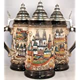 Rustic Prague Czech Republic Panorama German Beer Stein .75L ONE Mug Germany New