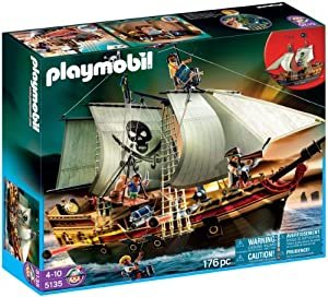 Playmobil - 5135 - Jeu de construction - Bateau d'attaque des pirates