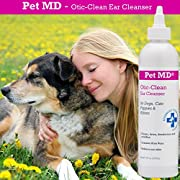 Pet MD - Otic Clean Cat & Dog Ear Cleaner - Effective against Infections Caused by Mites, Yeast, Itching & Controls Odor - Sweet Pea Vanilla Scent - 8oz