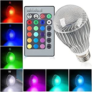 UGE RGB Crystal Ball LED Magic Spot Light Effect (9W 9Watt E27) 16 Colors Rotating Stage Lighting Decoration Lamp for Christmas Party with with Wireless Remote control Multi-function