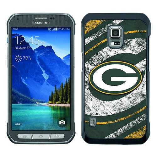 Samsung Galaxy S5 Active Green Bay Packers Black Shell Phone Case,Hot Sael Case by Case inc