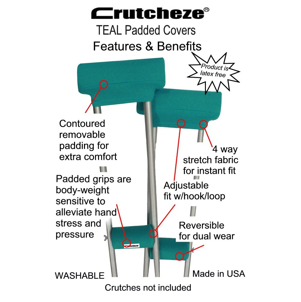 Костыли Crutcheze Sport Teal Crutch