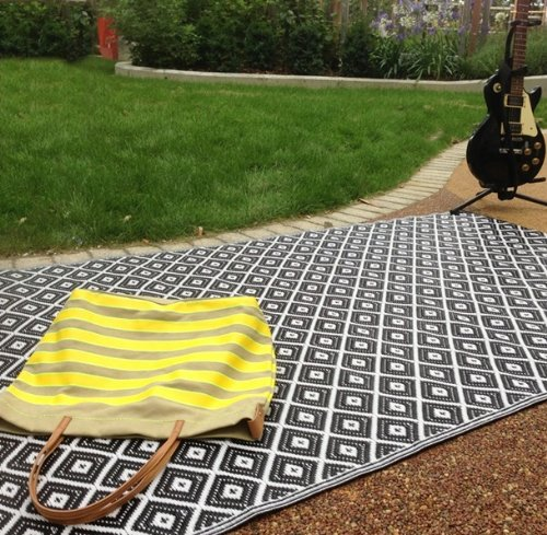 Black And White Rug Ebay Uk: New Large Quality Arabian Outdoor Black And White Plastic