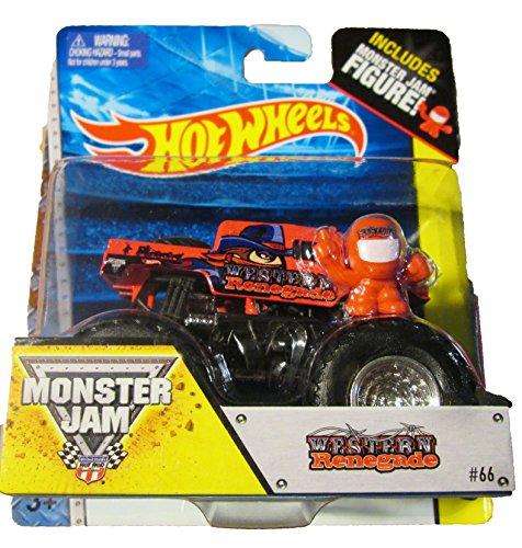Hot Wheels Monster Jam Western Renegade #66 includes monster jam figure