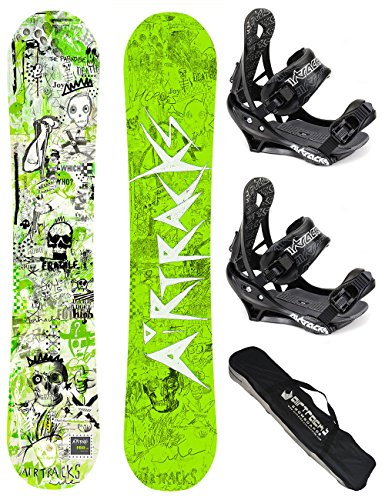 AIRTRACKS-SNOWBOARD-SET-PACK-PLANCHE-DREAMCATCHER-WIDEFIXATIONS-SAVAGESB-SACNEUF