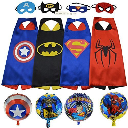 Tsye-Superhero-Assorted-Kids-Costumes-with-Satin-Cape-and-Felt-Mask-Set-of-4