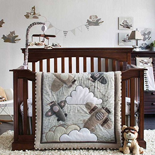 Kent 5 piece baby crib bedding set with bumper by cocalo for Best value baby crib