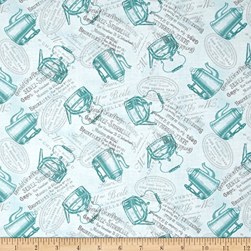 tea-pot-flora-teapots-turquoise-fabric-by-the-yard