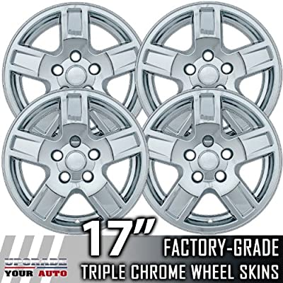 "2005-2007 Jeep Cherokee 17"" Chrome Wheel Skins"