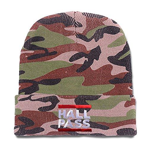 [Jeffrey Hall Pass Logo Beanie Unisex Embroidery Beanies Skullies Hats Skull Caps] (Alexandra Bruce Costume)