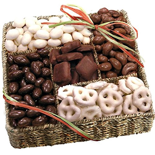 Organic Sweet Treats Gift Basket; Fully Loaded with Chocolate and Yogurt-Covered Treats, Organic Nuts and Snacks, Perfect for All Occassion; 3 Inches High x 12 inches Wide x 12 Inches Deep, 3 Pounds (Yogurt Covered Dried Cherries compare prices)