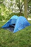 Mountain Warehouse Weekender 2 Man Double Skin Tent Stay Dry Inside Waterproof 2000mm Anti Insect Blue One Size
