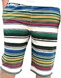 (マルカワジーンズパワージーンズバリュー) Marukawa JEANS POWER JEANS VALUE ショートパンツ メンズ オシャレ ハーフパンツ ボーダー 総柄 夏 4color