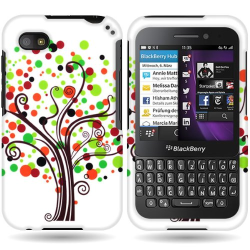 Coveron® Slim Hard Case For Blackberry Q5 With Cover Removal Tool - (Contempo Tree)