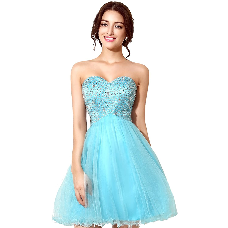 Favebridal 2015 Women's Evening Prom Cocktail Homecoming Dress FSD034 golub женская б1185 3786